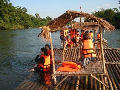 River Kwai Bridge - Elephant Riding, Bathing - Bamboo Raft (Code 1030)