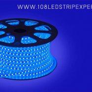 ไฟเส้นสายยาง STRIP LIGHT 5050 สีฟ้า ยาว 100 ม. (ท่อแบน) +พร้อมSetอุปกรณ์
