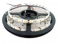 ไฟเส้น led strip light SMD 5050  60LED/m 14.4W 5เมตร   2700-3200K Warm white  ip65   เคลือบซิลิโคน