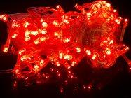 ไฟกระพริบ LED สีแดง 100 LED