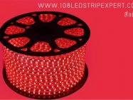ไฟเส้นสายยาง STRIP LIGHT 5050 สีแดง ยาว 100 ม. (ท่อแบน) +พร้อมSetอุปกรณ์