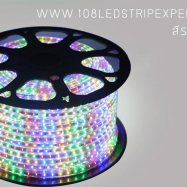ไฟเส้นสายยาง STRIP LIGHT  5050 สีรวมRGB ยาว 100 ม. กันน้ำ (ท่อแบน) พร้อมชุดคอนโทลควบคุมไฟ