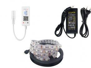 ชุดไฟเส้น led strip light 5050 ปรับสี RGBW ผ่าน Smart Phone 12V 14.4W ip20 5เมตร 60led/m.