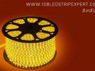 ไฟเส้นสายยาง STRIP LIGHT 5050 สีเหลือง ยาว 100 ม. (ท่อแบน) +พร้อมSetอุปกรณ์