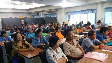 ประชุมวางแผนการเก็บเกี่ยวผลผลิตข้าวกลุ่มนาแปลงใหญ่แม่ริม สมาชิกหยุดการเผา