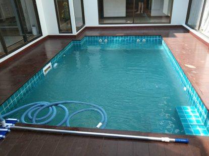งานปรับปรุงระบบสระว่ายน้ำส่วนตัว ในบ้าน