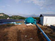 ติดตั้งระบบกรองน้ำทะเล บ่อเลี้ยงกุ้ง. อำเภอหลังสวน จ ชุมพร