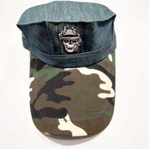 หมวกโกโบริ ผ้ายีนน้ำเงินเข้ม