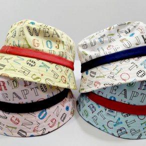 หมวกลายตัวอักษร ABC ทรงบัตเก็ต