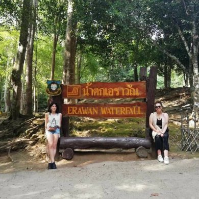 Floating Market and the Erawan Waterfalls (Code 1005)