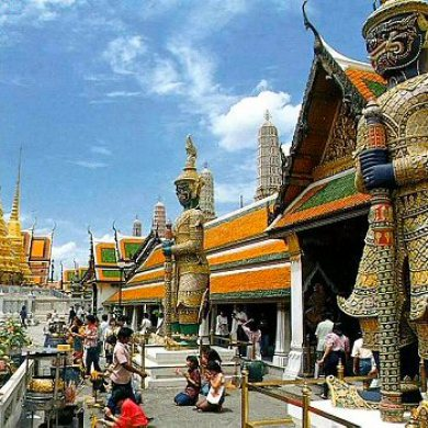 Floating Market at Damnern Saduak - Grand Palace Emerald Buddha and Reclining Buddha (Code 1009)