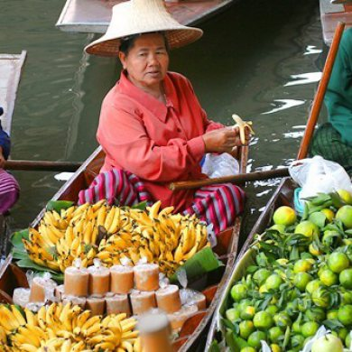 Damnern Saduak Floating Market - Half day tour (Code 1001)