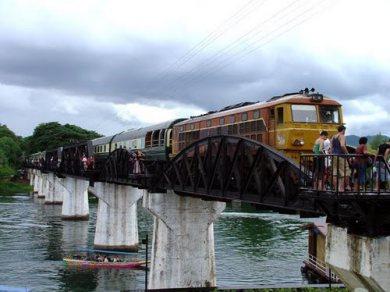 River Kwai Brdige - Train - Elephant riding, Bathing and , Bamboo rafting (Code 1025)
