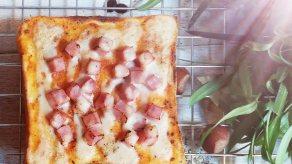 Croque Monsieur Ham Toast ( 1 แพค บรรจุ 4 ชิ้น/ 1 ลัง บรรจุ 10 แพค )