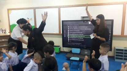 เครื่องมือสื่อการสอนInteractiveที่ใช้ในห้องเรียน