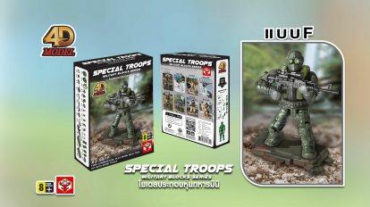 รีวิว Special Troops Military Blocks Series โมเดลประกอบหุ่นทหารมินิ ( แบบF )