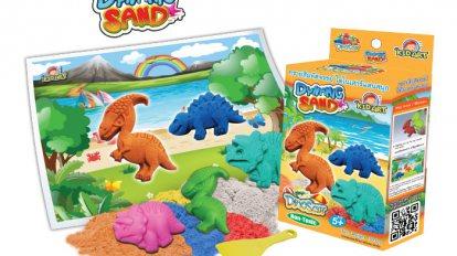 DYNAMIC SAND 100 G. + Dinosaur Mold