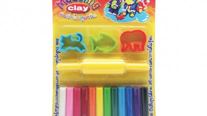 Modeling clay 12 color 200 G. + mold