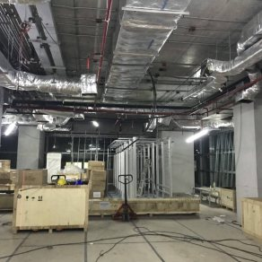Installation of fire sprinkler systems and systems Pre-action (Siriraj Hospital)