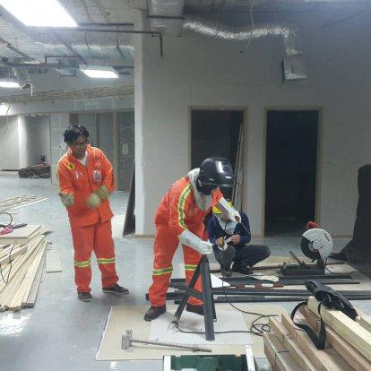 งานย้ายหัวและปรับปรุงระบบสปริงเกอร์ดับเพลิง(ตึก RS)