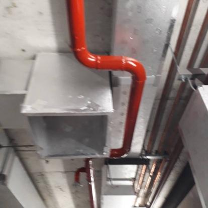 งานติดตั้งระบบสปริงเกอร์ดับเพลิง(โรงพยาบาล พยาไทย 2)