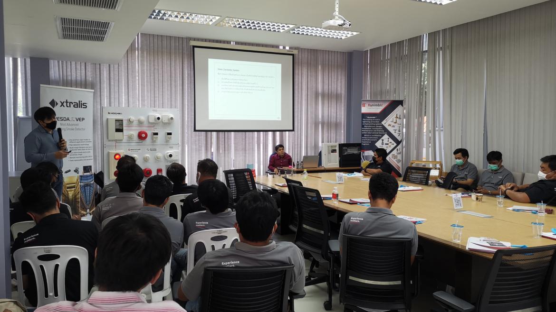 """บริษัท นิมเบิล ซัพพลาย แอนด์ เซอร์วิส จำกัด ได้เข้าจัดอบรมให้ความรู้กับเจ้าหน้าที่ บริษัทเฟรเซอรส์ พร็อพเพอร์ตี้ (ประเทศไทย) จำกัด (มหาชน) ในหัวข้อ """"ระบบแจ้งเหตุเพลิงไหม้ Fire Alarm System / ระบบป้องกันฟ้าผ่า Lightning / ระบบสายดิน Grounding System """""""