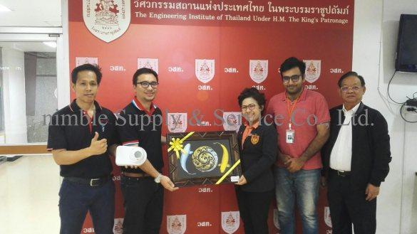 บริษัท นิมเบิล ซัพพลาย แอนด์ เซอร์วิส จำกัด ได้มีโอกาสเข้าไปแนะนำผลิตภัณฑ์ ที่วิศวกรรมสถานแห่งประเทศไทย ในพระบรมราชูปถัมภ์