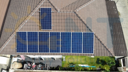 2.56kWp Residential house (The Nature Village, Rayong Province)