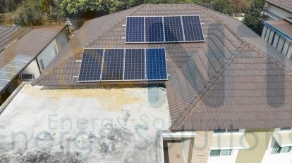 2.56kWp Residential House (The Cottage Village, Rayong Province)