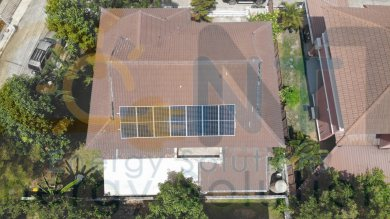 3.06 kWp On-Grid หมู่บ้านหาดพยูนกรีนวิลล์ (อ.บ้านฉาง จ.ระยอง)