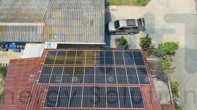 11.34 kWp For Commercial use (Meat and Seafood Freezer room) (Trat provice)