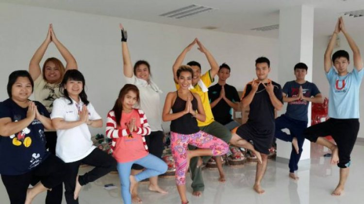 2014 Yoga Training Sessions at Petch Thai Chemical
