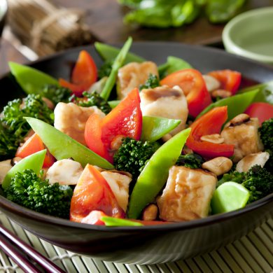 Stir Fried Veggie with Fried Tofu