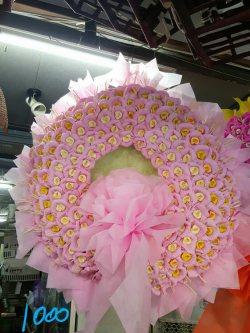 พวงหรีดดอกไม้จันทน์-002