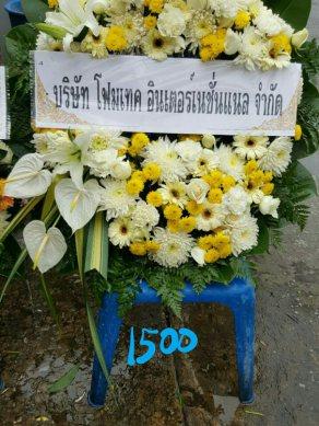 พวงหรีดดอกไม้สด-022