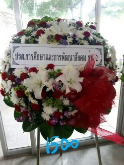 พวงหรีดดอกไม้สด-011
