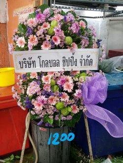 พวงหรีดดอกไม้สด-023