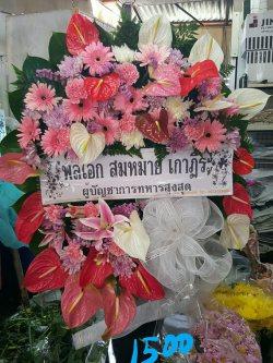 พวงหรีดดอกไม้สด-016
