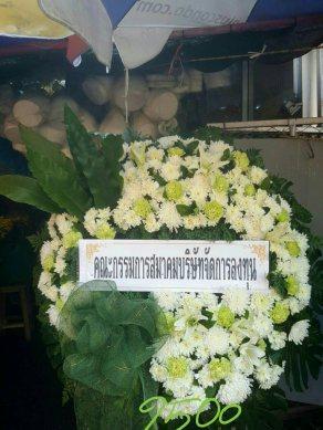 พวงหรีดดอกไม้สด-048