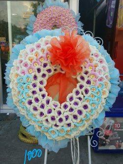 พวงหรีดดอกไม้จันทน์-001