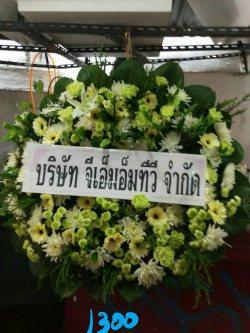 พวงหรีดดอกไม้สด-028