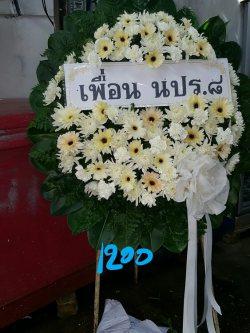 พวงหรีดดอกไม้สด-019