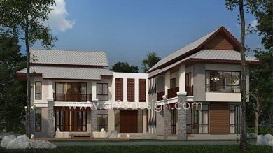 แบบบ้านสองชั้น AR01