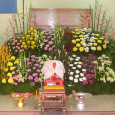 ดอกไม้หน้าศพ และ ดอกไม้ประดับเมรุ  ID:CR-15010