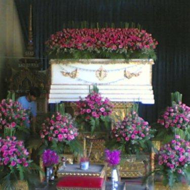ดอกไม้หน้าศพ และ ดอกไม้ประดับเมรุ  ID:CR-10003