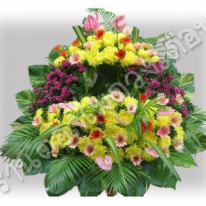พวงหรีดดอกไม้สด ID:WR 1238