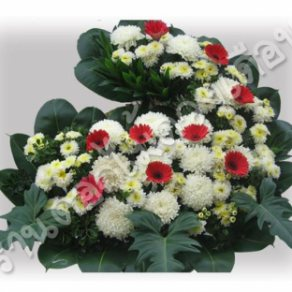 พวงหรีดดอกไม้สด ID:WR 0818
