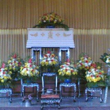 ดอกไม้หน้าศพ และ ดอกไม้ประดับเมรุ  ID:CR-6510