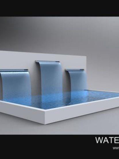 ม่านน้ำเล่นระดับ 3 ระดับ สำเร็จรูป