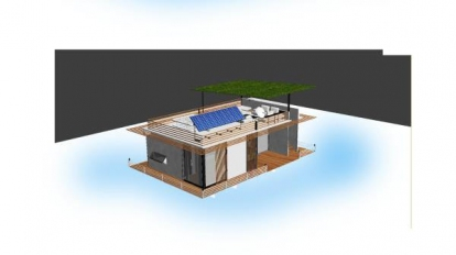แบบบ้านลอยน้ำและทุ่นแบบต่างสำหรับการอาศัยบนน้ำ